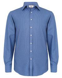 Thomas Pink Blue Kingsford Check Slim Fit Shirt for men