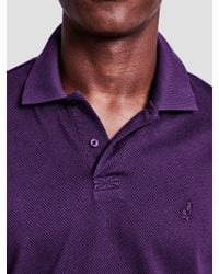 Thomas Pink Purple Lyell Texture Classic Fit Polo Shirt for men