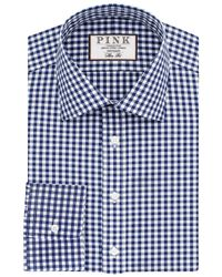 Thomas Pink | Blue Summers Check Slim Fit Shirt for Men | Lyst
