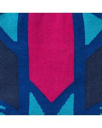 Thomas Pink Blue Cooper Abstract Pattern Socks for men