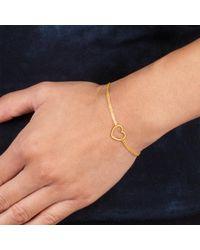 "Dogeared - Metallic Friendship, Medium Open Heart Chain Bracelet, 6""+1"" Extender - Lyst"