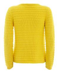 John Lewis Yellow Mint Velvet Chunky Cropped Knit Jumper