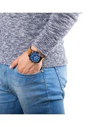 Alpina Blue Al-372n4fbs6 Men's Startimer Pilot Big Date Leather Strap Watch for men