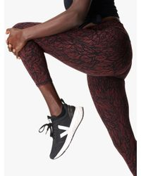 Sweaty Betty Red Power 7/8 Gym Leggings
