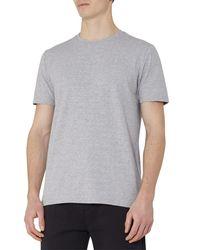 Reiss Gray Breeze Print T-shirt for men