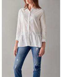 Great Plains White Arabel Embroidered Anglais Shirt