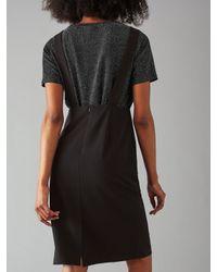 Numph Black Jovina Pinafore Dress