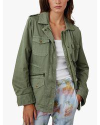 Velvet By Graham & Spencer Green Ruby Cotton Twill Jacket
