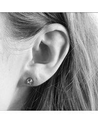 Dyrberg/Kern - Metallic Dyrberg/kern Thelma Small Swarovski Crystal Stud Earrings - Lyst