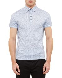 Ted Baker Blue Rovein Polo Top for men