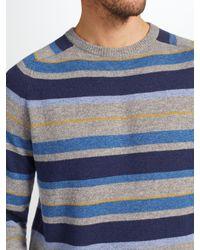 John Lewis - Gray Stripe Knit Jumper for Men - Lyst