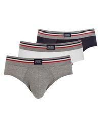 Jockey Gray Stretch Cotton Briefs for men