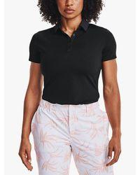 Under Armour Black Zinger Short Sleeve Polo Shirt