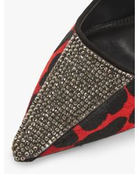 Dune - Red Bengall High Heel Court Shoes - Lyst