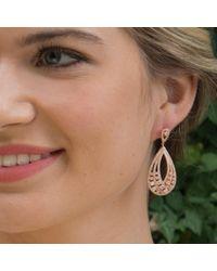Ivory & Co. Metallic Twilight Statement Teardrop Earrings