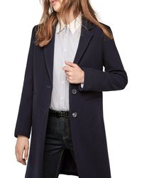 Gerard Darel Blue Galeria Collared Coat