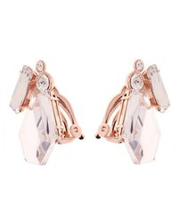 Ted Baker - Pink Patiaa Swarovski Crystals Stone Clip-on Earrings - Lyst
