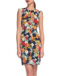 Whistles Multicolor Floral Print Bodycon Dress