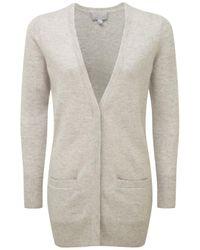 Pure Collection Gray Cashmere Boyfriend Cardigan