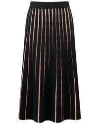 Pure Collection Black Knitted Full Skirt