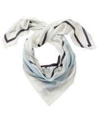 Pure Collection | Blue Elizabeth Printed Silk Scarf | Lyst