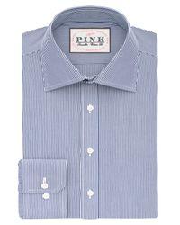 Thomas Pink White Ferguson Stripe Classic Fit Shirt for men