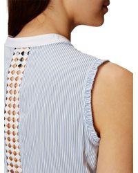Karen Millen Blue Striped Shirt
