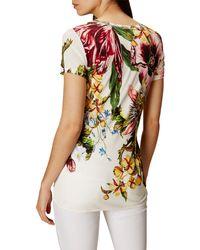 Karen Millen Multicolor Botanical Print Jersey T-shirt