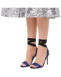 L.K.Bennett Blue Helia Heeled Sandals