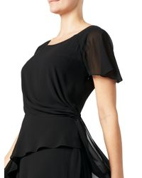 Jacques Vert Black Soft Tie Detail Dress