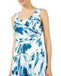 Jacques Vert Blue Floral Print Dress