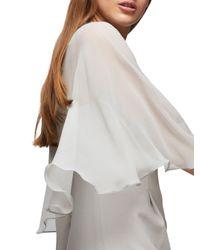 Jacques Vert Gray Chiffon Cape Dress