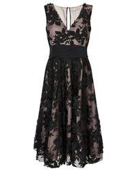 Jacques Vert Black Applique Prom Dress