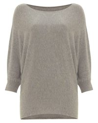 Phase Eight Gray Sparkle Becca Batwing