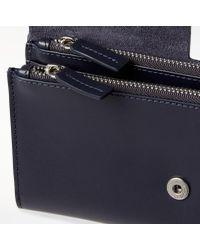 John Lewis Blue Ara Leather Foldover Purse