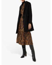 Warehouse Black Single Breasted Coat
