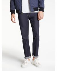 Levi's Blue Made & Crafted Tack Slim Fit Jeans for men