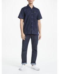 Lyle & Scott - Blue Fern Short Sleeve Shirt for Men - Lyst