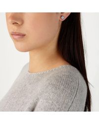 John Lewis - Metallic Semi-precious Stone Stud Earrings - Lyst