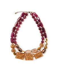 John Lewis - J114 Double Layered Chunky Bead Necklace - Lyst