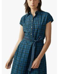 Toast Blue Anokhi Taos Shirt Dress