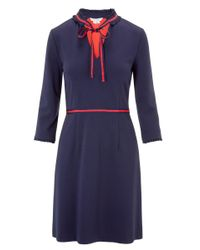 John Lewis Blue Boden Annette Ponte Dress