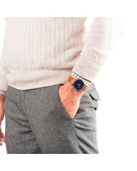 Junghans Blue 027/3504.00 Men's Meister Leather Strap Watch for men