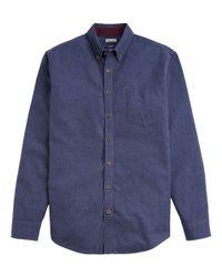 Joules Blue Long Sleeve Flannel Shirt for men