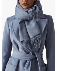 82dcdb1cc Reiss Lambswool Cashmere Blend Scarf in Blue - Lyst