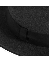 Reiss - Multicolor Seeno Wide Brim Wool Fedora Charcoal for Men - Lyst