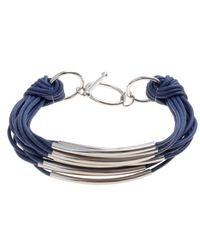 John Lewis - Gray Multi Strand Tube Layered Bracelet - Lyst
