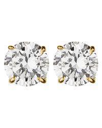 Dyrberg/Kern   Metallic Dyrberg/kern Nene Cubic Zirconia Crystal Stud Earrings   Lyst