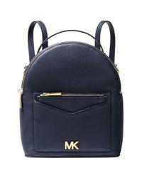 Michael Kors Blue Michael Jessa Small Leather Backpack