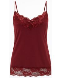 Jigsaw Red Modal Lace Vest